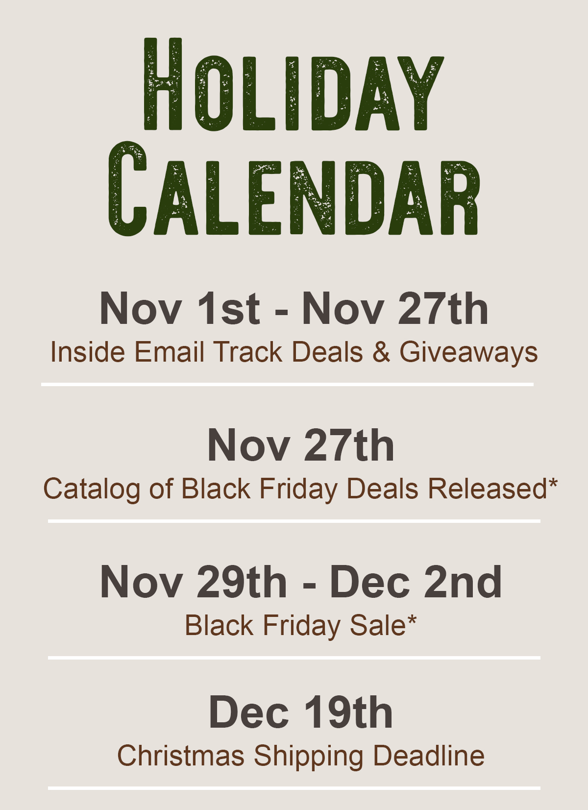 Subscribe To Black Friday Inside Track 2019 Wild Free Supply